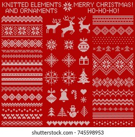 Ugly Christmas Sweaters Patterns.Ugly Christmas Sweater Pattern Images Stock Photos