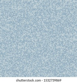 Knitted Marl Variegated Heather Texture Background. Denim Gray Blue Blended Line Seamless Pattern. For Woolen Fabric, Cozy Winter Nordic Textile, Triblend Melange Scandi All Over Print. Vector Eps 10
