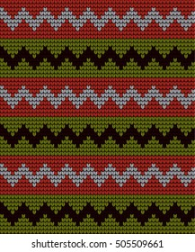 knitted pattern zigzag