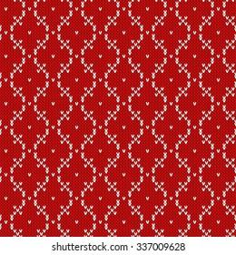 Knitted seamless pattern.