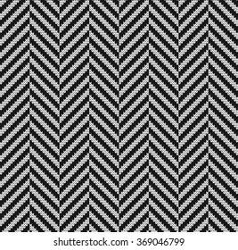 Knitted seamless pattern herringbone