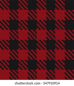 Knitted seamless pattern Shepherds Check