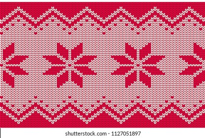 Knitted seamless pattern. Vector