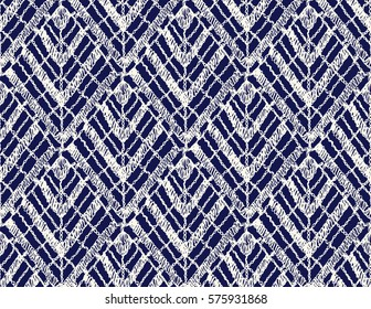 Knitted seamless patterns. Crochet mesh. Knitting or woven macrame in the bohemian style. Oriental motifs