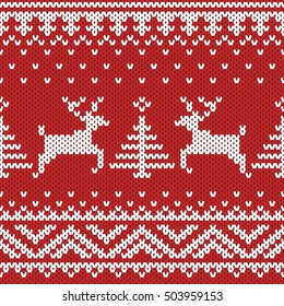 knitted seamless vector background
