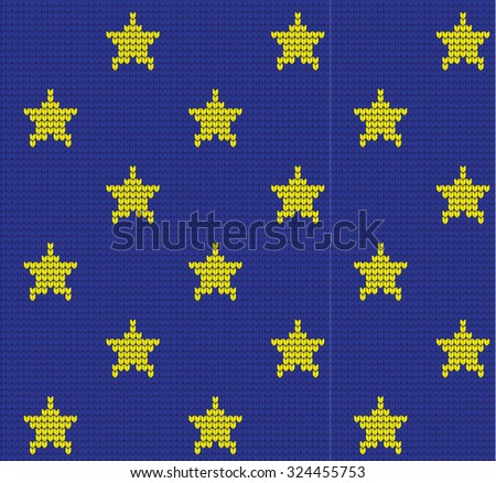 Knitted Stars Pattern Stock Vector Royalty Free 324455753