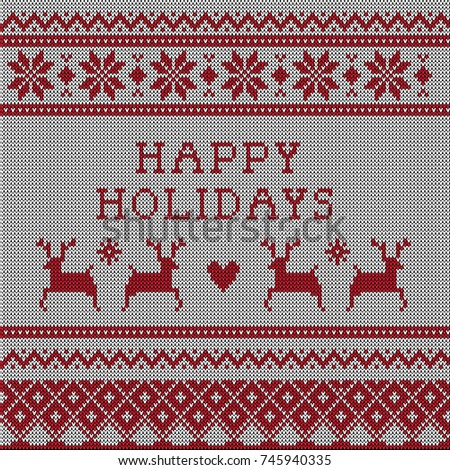 knitted ugly christmas sweater vector pattern