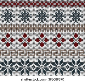 knitted winter seamless pattern in Fair Isle style