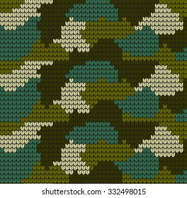 Knitting Camouflage VECTOR PATTERN