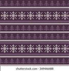 Knitting Christmas Pattern