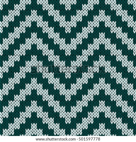 869d6bbc4 Knitting Zigzag Seamless Vector Pattern Muted Stock Vector (Royalty ...