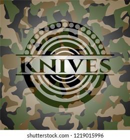 Knives camouflage emblem
