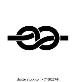 Knot black icon .