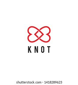 Knot love logo icon design vector template