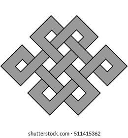 knot pattern shape vector, modern logo triskele,  tribal tattoo design pattern knot celtic logo vector design on white background