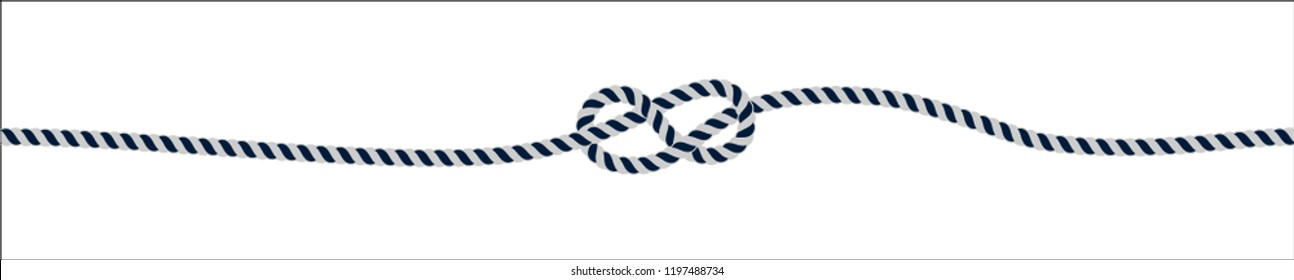 knot of rope on a white background