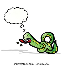 knotted snake cartoon