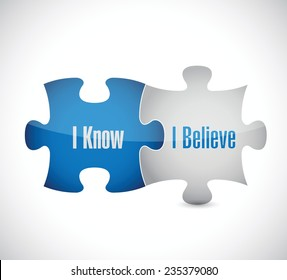 I know I believe puzzle pieces illustration design over a white background