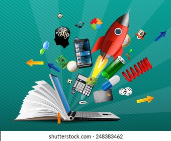 Knowledge base - e-learning possibilities, on-line shopping, banking and communication