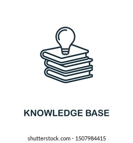Knowledge Base outline icon. Thin line concept element from customer service icons collection. Creative Knowledge Base icon for mobile apps and web usage.
