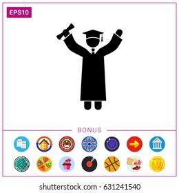 Knowledge Concept with Graduate Icon