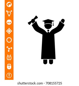 Knowledge Concept with Graduate Icon