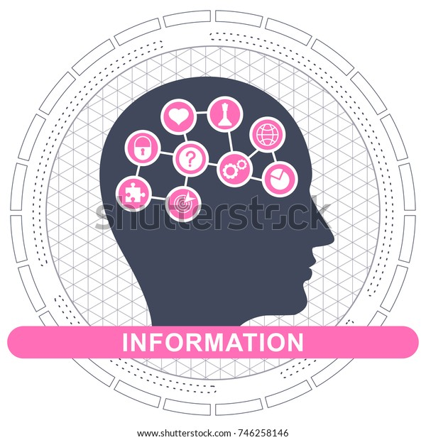 Knowledge flat vector cartoon illustration concept. Objects isolated on white background.