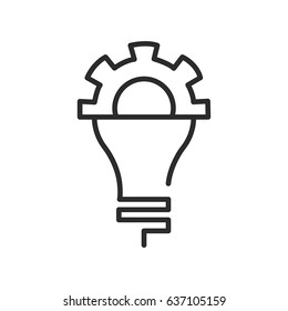 knowledge icon, lamp vector, bulb icon, creative symbol eps10