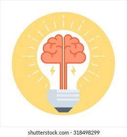 Knowledge is light theme, flat style, colorful, vector icon set for info graphics, websites, mobile and print media.