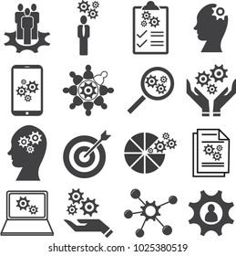 Knowledge of population, Ability, Skills icon set, Vector illustration EPS10.