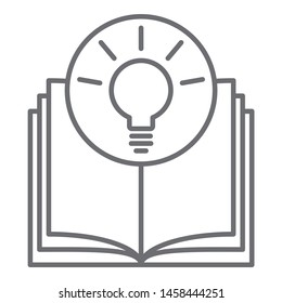 knowledge is power - light bulb growing out of the open book