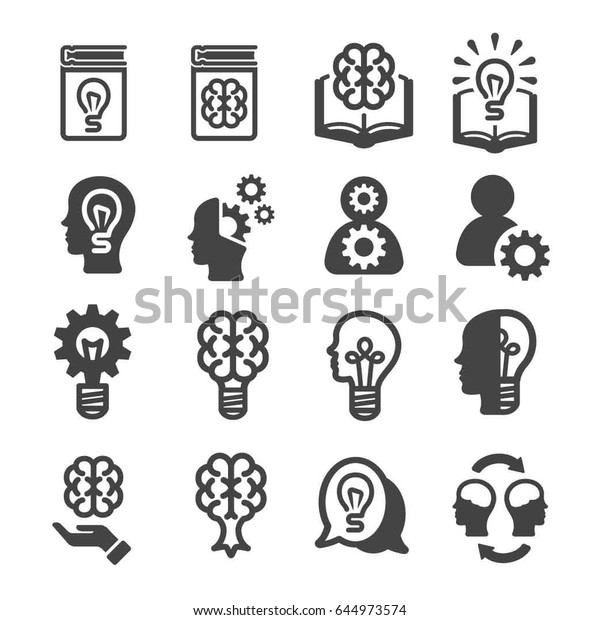 knowledge, thinking icons