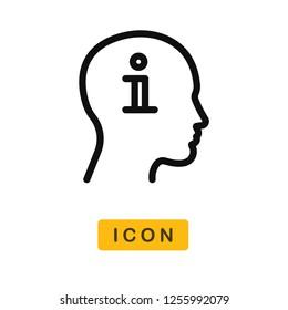 Knowledge vector icon