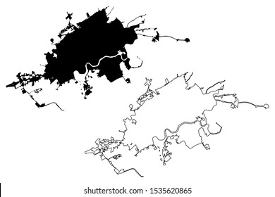 Knoxville City (United States cities, United States of America, usa city) map vector illustration, scribble sketch City of Knoxville map