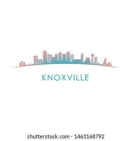 Knoxville skyline silhouette. Vector design colorful illustration.