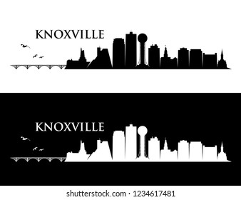 Knoxville skyline - Tennessee, United States of America, USA - vector illustration