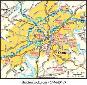 Knoxville Tennessee Map Images, Stock Photos & Vectors | Shutterstock