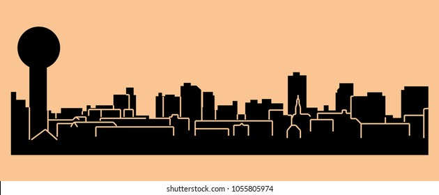 Knoxville, Tennessee ( city silhouette )