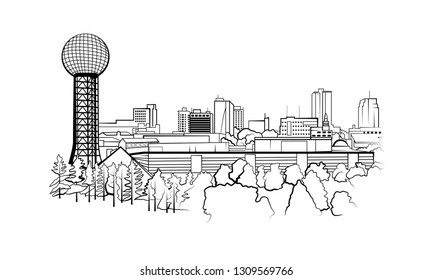 Knoxville, Tennessee City Skyline