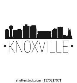 Knoxville Tennessee Skyline Silhouette City Design Vector Famous Monuments