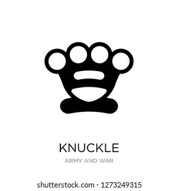 knuckle icon vector on white background, knuckle trendy filled icons from Army and war collection