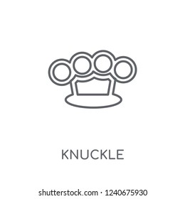 Knuckle linear icon. Modern outline Knuckle logo concept on white background from army and war collection. Suitable for use on web apps, mobile apps and print media.
