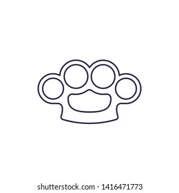 knuckles line vector icon on white