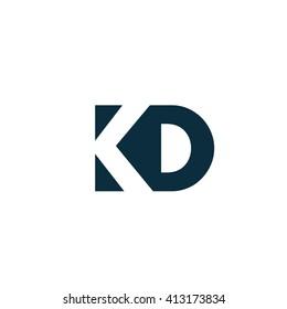 KO Logo. Vector Graphic Branding Letter Element. White Background
