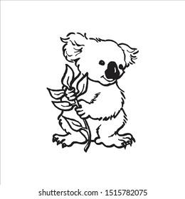 Koala abstract style vector logo.