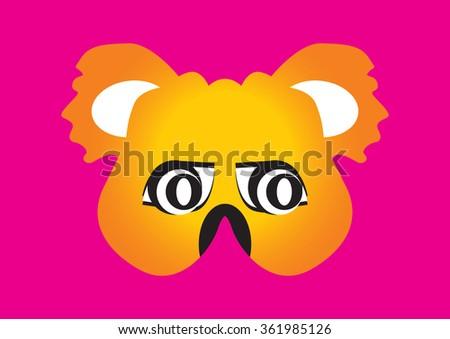 Koala Bear Party Mask Face