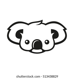 Koala Bear Sign Logo. Vector
