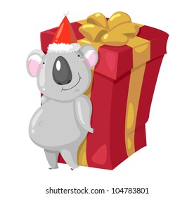 Koala Bear vector illustration on a white background