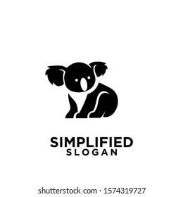 koala black logo icon design vector