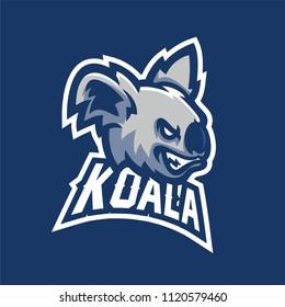 koala esport gaming mascot logo template